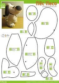 Картинки по запросу выкройки игрушка из фетра собака такса