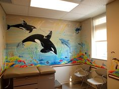 "www.JMS-ART.com  Pediatric Practice ""Under the Ocean"" Exam Room by jms artist, via Flickr"