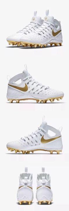 Footwear 159154: New! Nike Huarache V Lax Lacrosse Cleats Sz 7 White Metallic Gold 807142-170 -> BUY IT NOW ONLY: $58.99 on eBay!