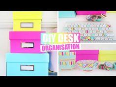 Back To School - Desk Organisation & DIY School Supplies - YouTube
