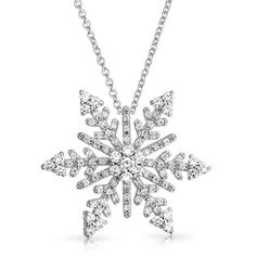 Bling Jewelry Winter Wonderland (£32) ❤ liked on Polyvore featuring jewelry, necklaces, clear, necklaces pendants, pendant-necklaces, holiday jewelry, clear crystal jewelry, christmas necklace, snowflake pendant and evening jewelry