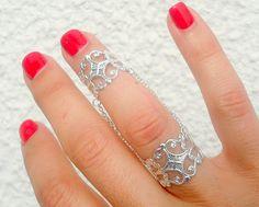Slave Ring - Slave Rings - Chain Rings - Armor Ring, Slave Ring , Filigree Chain Rings by Tiny Box. $20.99, via Etsy.