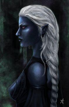 Drow priestess by ~Aerenwyn on deviantART