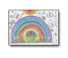 RAINBOW Original drawing, Home & Wall decor, Colored pencils Black ink illustration https://www.etsy.com/listing/198617289/rainbow-original-drawing-home-wall-decor?ref=shop_home_active_15