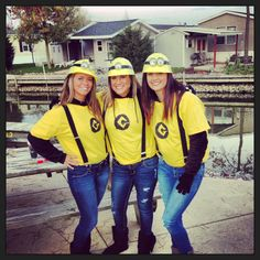 Minion costumes ! this is what im doing minus the jeans for jean shorts and no long sleeve black shirt