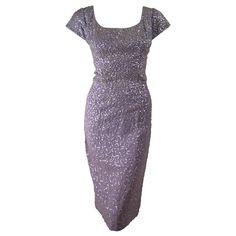 1950's Lilac Sequins Cocktail Dress