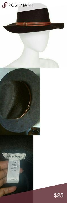NWOT Olsenboye Wool Hat NWOT One Size Olsenboye Wool Hat. Has fedora like crown, brim kinda floppy but not too much. Brand new hat with great belted accent. Purchased at Anthro for $50.  Cut off tags and hung up. Tried om and now it doesn't fit, booo!  #Bigheadedgirlproblems, haha.  Non smoking no pet home.   Raising money for nursing school tuition. olsenboye  Accessories Hats