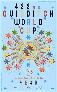 Quidditch World Cup Poster.  This would make it look like an actual hogwarts kid's room.  @Penelope Fischer-White S