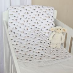 Baby Birds Quilted Cotton Blanket (Natural). Available online at www.babesandkids.co.za Bird Quilt, Tummy Time, Cotton Blankets, Baby Room, Toddler Bed, Neutral, Birds, Furniture, Home Decor