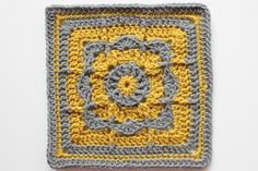 Friend Family Square, 6 inches ~ Free pattern by Christal Friend. Pic from Ravelry Project Gallery by craftyminx  . . .  ღTrish W ~ http://www.pinterest.com/trishw/  . . .   #crochet #motif
