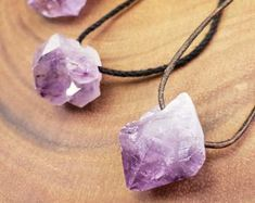 Crystal Jewelry Healing Crystals by TheHealingHippies on Etsy Amethyst Crystal, Crystal Healing, Stone Jewelry, Crystal Jewelry, Adjustable Knot, Clear Quartz, Stones And Crystals, Wands, Sculpting