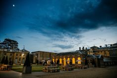 Dramatic skies over the Lady Elizabeth Wing, at Holkham Hall.  Wedding, Wedding Venue, Norfolk Wedding Venue, Norfolk Bride, Courtyard