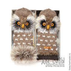 Купить Варежки Совы - коричневый, сова, совы, совушка, совёнок, варежки сова, варежки совы Knitting Projects, Knitting Patterns, Craft Projects, Crochet Patterns, Crochet Gloves, Knit Mittens, Crochet Home, Knit Crochet, Fur Accessories