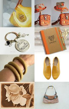 ORANGE_YELLOW_ BROWN_  autumn shopping  by Lotus Supplies on Etsy--Pinned with TreasuryPin.com