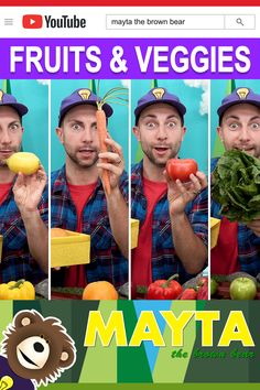 Healthy food for kids with Mayta and B! Learning fruits and vegetables together with Mayta and B is fun. Watch the idea choo choo train deliver fruits and ve. Baby Learning Videos, Toddler Learning, Toddler Activities, Healthy Meals For Kids, Kids Meals, Educational Videos, Stuffed Green Peppers, Brown Bear, Fruits And Vegetables