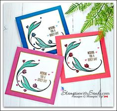 Lovely Wishes and Retiring In Colours cards by Sandi @ stampinwithsandi.com #stampinup #stampinwithsandi #lovelywishesstampinup #stampinupcards #sandimaciver #cleanandsimplecards