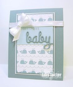Precious Baby card-designed by Lori Tecler/Inking Aloud-stamps and dies from SugarPea Designs
