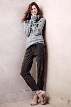 Draped Tencel Pant #Anthropologie. Someday I will be able to look good going to and from yoga/workouts.