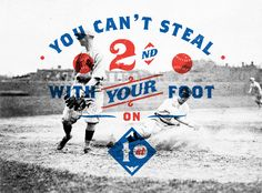 // You Can't Steal 2nd With Your Foot On 1st
