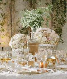 White is gloriously elegant! Set Stylist: Jennifer Thye, Imoni Events, Photographer:  Cameron & Kelly Studio, Floral Design:Table Tops Etc., Paper Products:Page & Mason Invitations, Linens:Wildflower Linen, Rentals:  Classic Party Rentals, Location: Arizona Grand Resort #wedding #flowers #white