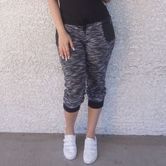 Street Chic Joggers Cool comfy joggers with a drawstring elasticized waist and two faux leather pockets. Made out of 70% Polyester, 30% Cotton Pants Track Pants & Joggers