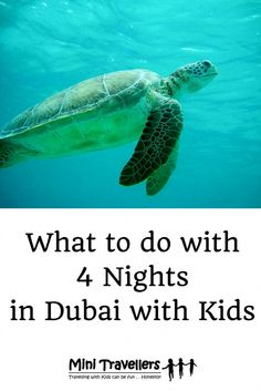 So if you were going to spend 4 nights in Dubai with Kids what would you do? Just take a look at Visit Dubai's website to see how easy it is in fact to do many activities.