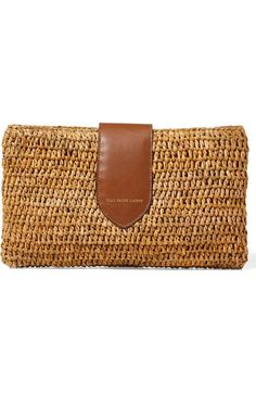 Prada Women's Saffiano Leather Clutch with Chain Strap Red Best Leather Wallet, Leather Clutch, Clutch Bag, Crochet Clutch, Crochet Purses, Crochet Bags, Felted Slippers, Jute Bags, Beautiful Handbags