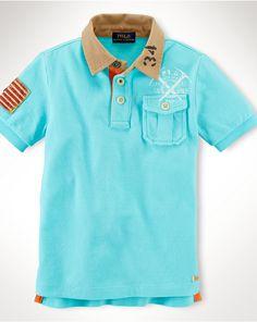 Graphic Cotton Mesh Shirt - Polo Shirts Boys  8–20 - RalphLauren.com 915d1f055ccef