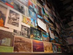 The Postcard Wall at Darcy's, Glasgow, Scotland 2011.