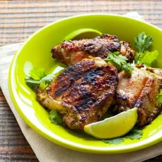 Coconut Cilantro Grilled Chicken - healthy  easy summer grilling chicken recipe. 102 calories a piece.