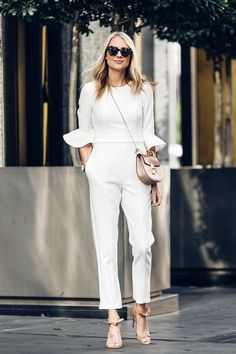 feminine chic vibes with this oh-so adorable jumpsuit.
