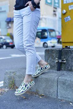 Gap mini-striped khakis.