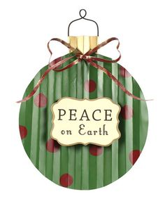 Take a look at this Green & Red Dot 'Peace' Decorative Sign by Sunset Vista Design Co., Inc. on #zulily today!