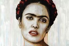 Harold Aspers  'Kahlo' acryl en epoxy op paneel, 100 x 150 cm