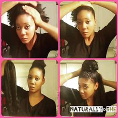 ♦ The Faux Bun ♦ My favorite go-to-style when its raining, dont feel like doing my hair, tired, didn't twist or braid my hair the night before, 3rd day wash n go hair, and protective style!#naturallyshe