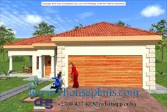 Overall Dimensions- x mBathrooms- 3 Car GarageArea- Square meters Building Costs, Guest Toilet, Guest Bed, Garages, Home Collections, All Design, House Plans, Bedrooms, How To Plan