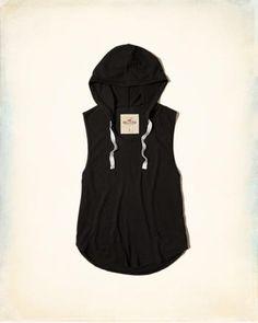 Girls Knit Hooded Tank | Girls Tops | HollisterCo.com | @giftryapp