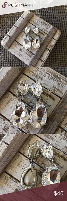 💎 Swarovski Earrings Kenneth Jay Lane Swarovski drop earrings. No trades. ❤️ Love the item but not the price?  Make an offer. Happy Shopping. 🛍 Kenneth Jay Lane Jewelry Earrings