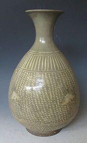 Período de Joseon de Corea Buncheong Celadon florero