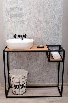 Iron Furniture, Steel Furniture, Home Decor Furniture, Bathroom Design Luxury, Bathroom Design Small, Industrial Design Furniture, Furniture Design, Küchen Design, Design Ideas