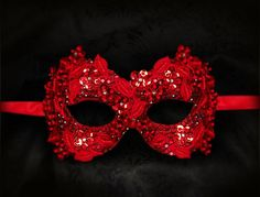 Hey, I found this really awesome Etsy listing at https://www.etsy.com/listing/186186247/sequined-red-masquerade-mask-with