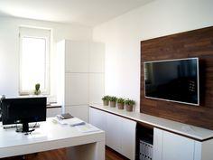 Arbeitsplatz | Schauraum | krumhuber.design   #planung #einrichtung #architektur Flat Screen, Design, Workplace, Architecture, Projects, Homes, Ideas, Flat Screen Display, Design Comics
