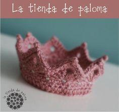Baby crown - Crochet baby crown - Crochet tiara - Princess crown - Newborn photoprop - Ariel crown. $16.00, via Etsy.