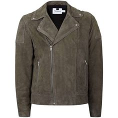TOPMAN Brown Suede Quilted Shoulder Biker Jacket ($220) ❤ liked on Polyvore featuring men's fashion, men's clothing, men's outerwear, men's jackets, brown, mens suede moto jacket, mens suede leather jacket, mens brown jacket, mens quilted jacket and mens suede jacket