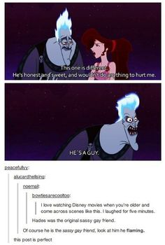 When they discovered the exact archetype that Hades fell into. | 31 Times Tumblr Had Serious Questions About Disney