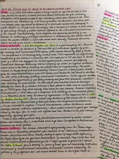 These very aesthetically pleasing study notes. | 18 Pieces Of Handwriting So Satisfying They'll Make Everything OK Again