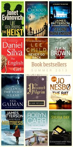 """12 sure-fire book bestsellers of summer 2013""  I haven't read any of these yet, but recommend anything by Neil Gaiman or Lee Child."