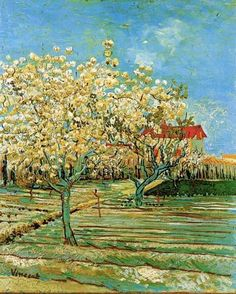Orchard in Blosson, 1888. Van Gogh.