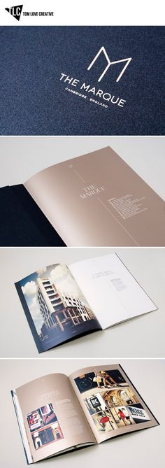 The Marque  Brand identity, Printed collateral, Brochure, Website, Hoarding, Advertising, Art direction.  www.tomlovecreative.com