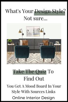 Take the quiz to find out your design style and get a mood board with source links. Interior Design Styles Quiz, Interior Design Classes, Interior Design Boards, Interior Design Companies, Design Projects, Eclectic Design, Modern Design, Best Interior, Modern Interior